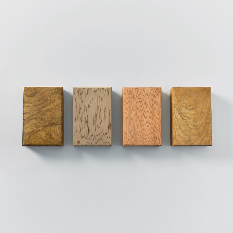 左から:朴、神代杉、屋久杉、桑